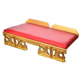 Leggio da mensa dorato cuscinetto ottone cervi alla fonte s5