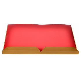 Leggio da mensa dorato cuscinetto ottone cervi alla fonte s7
