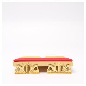 Leggio da mensa dorato cuscinetto ottone cervi alla fonte s12
