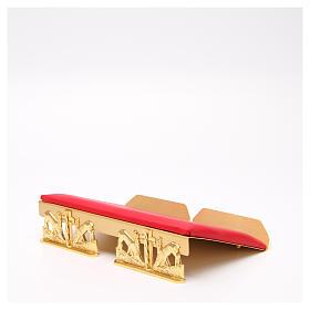 Leggio da mensa dorato cuscinetto ottone cervi alla fonte s13