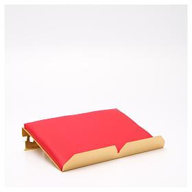 Leggio da mensa dorato cuscinetto ottone cervi alla fonte s14
