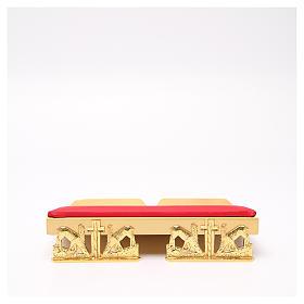 Leggio da mensa dorato cuscinetto ottone cervi alla fonte s1