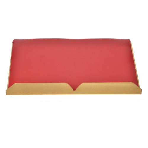 Leggio da mensa dorato cuscinetto ottone cervi alla fonte 11