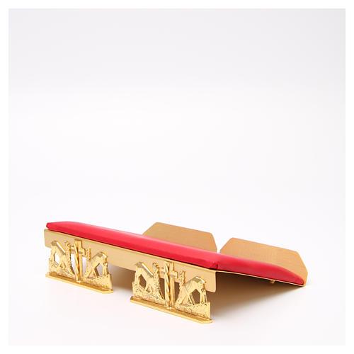 Leggio da mensa dorato cuscinetto ottone cervi alla fonte 13