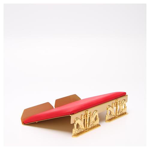 Leggio da mensa dorato cuscinetto ottone cervi alla fonte 15