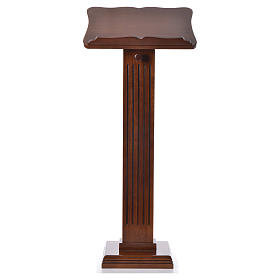 Lecterns: Ambo in patinated walnut wood, little size