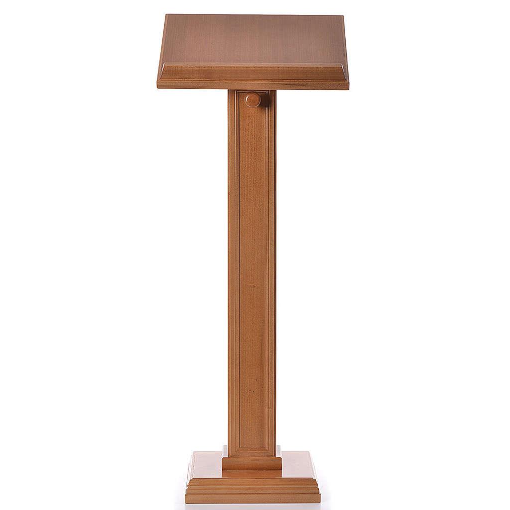 Leggio a colonna quadra legno di noce color miele 4
