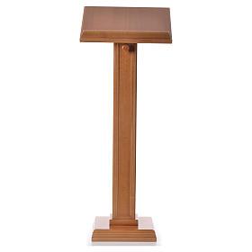 Leggio a colonna quadra legno di noce color miele s5