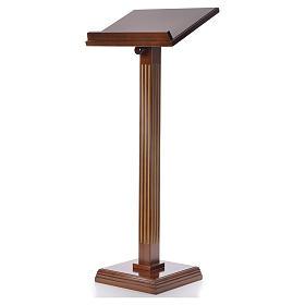 Atril con columna madera de nogal s6