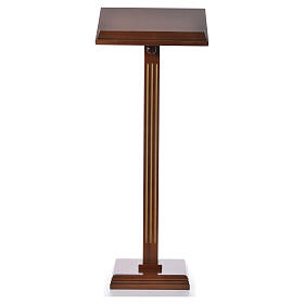 Lectern in walnut wood with fluted pedestal s5