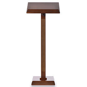 Lectern in walnut wood with fluted pedestal s1