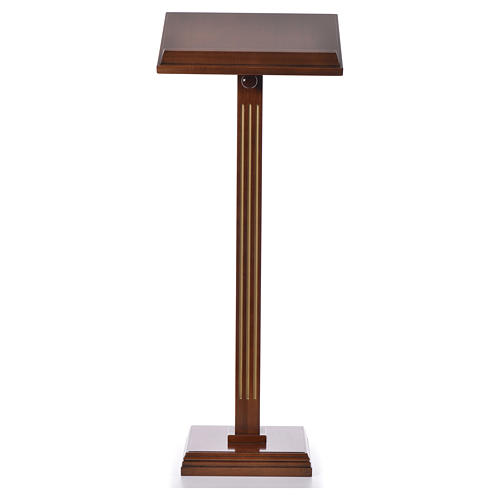 Lectern in walnut wood with fluted pedestal 5