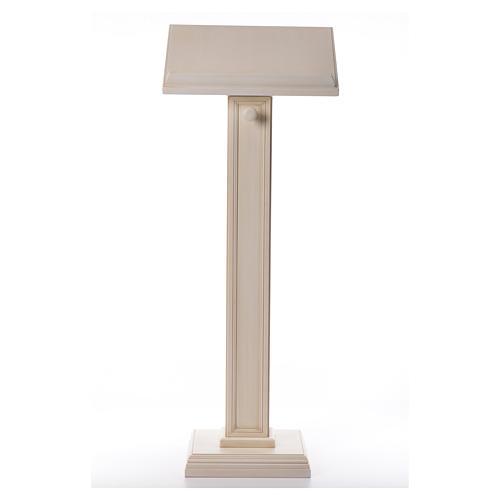 Atril con columna madera de nogal blanco 1