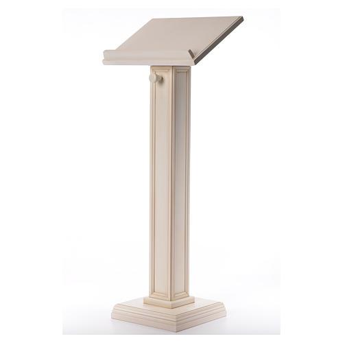 Atril con columna madera de nogal blanco 2