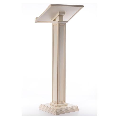 Atril con columna madera de nogal blanco 3