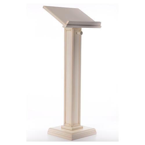 Atril con columna madera de nogal blanco 4
