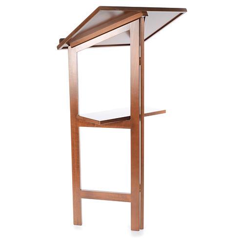 Estante de leitura dobrável madeira de faia 3