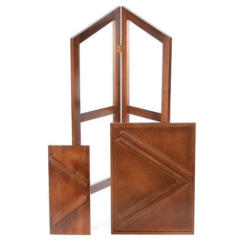 Estante de leitura dobrável madeira de faia 5