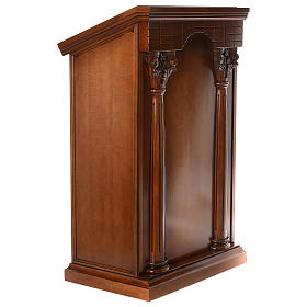 Ambo with columns made of walnut wood s4