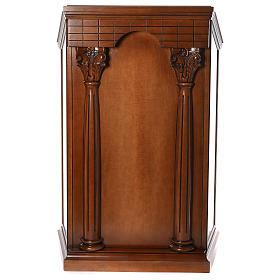 Ambona z kolumnami drewno orzechowe s1