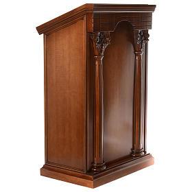Ambona z kolumnami drewno orzechowe s4