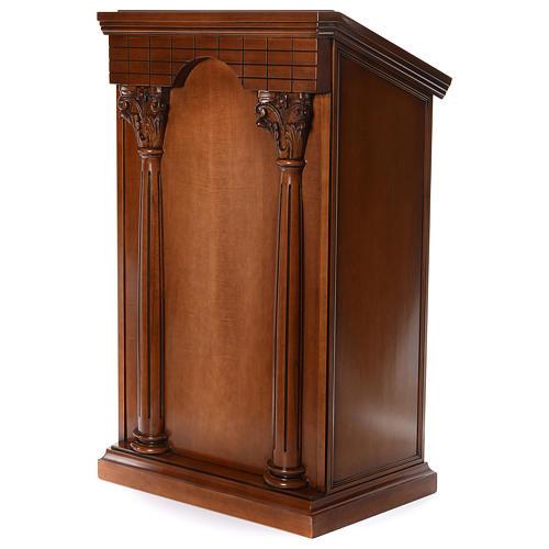 Ambona z kolumnami drewno orzechowe 2