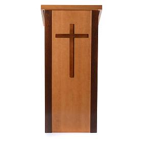 Ambón madera de nogal con cruz s1