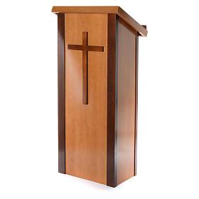 Ambón madera de nogal con cruz s2