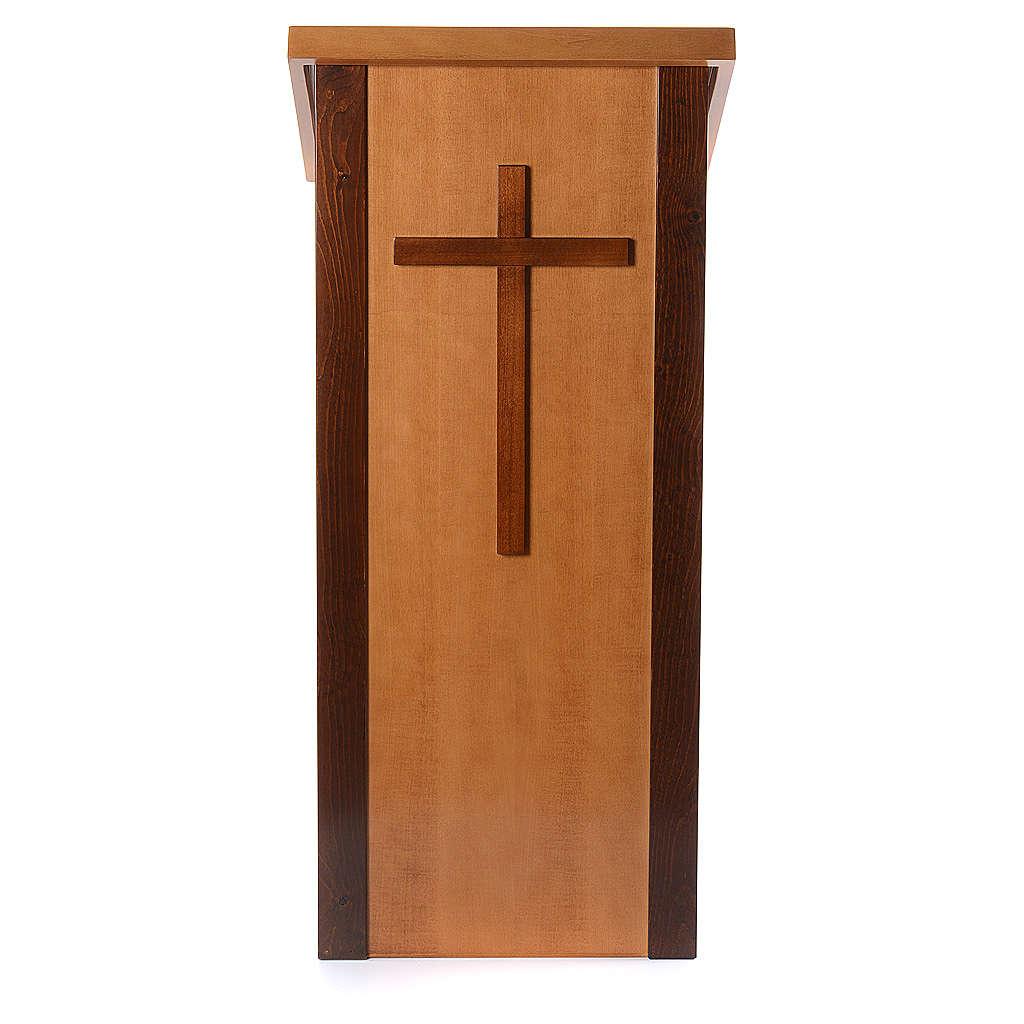 Ambon bois noyer avec croix 4