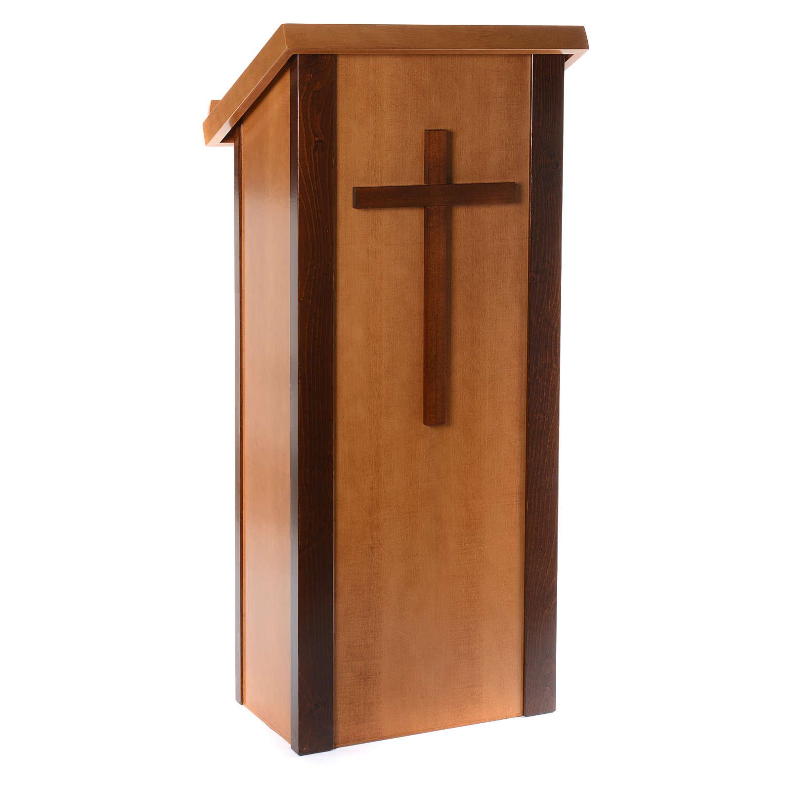 Ambone legno di noce con croce 4