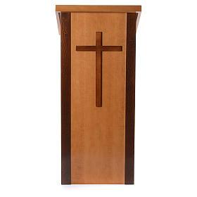 Ambone legno di noce con croce s1