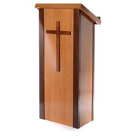 Ambone legno di noce con croce s2