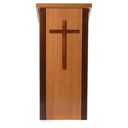 Ambone legno di noce con croce 1