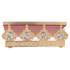Atril de mesa latón fundido cuatros evangelistas 30 x 40 cm