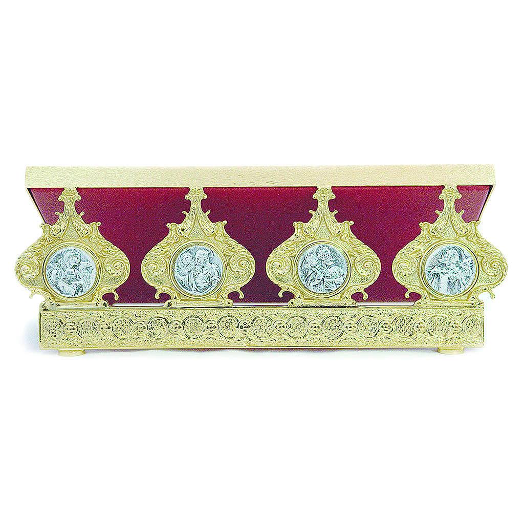 Pupitre d'autel laiton moulé quatre évangélistes 30x40 cm 4