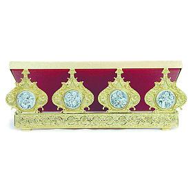 Pupitre d'autel laiton moulé quatre évangélistes 30x40 cm s1