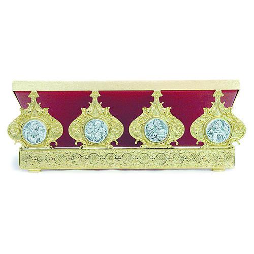 Pupitre d'autel laiton moulé quatre évangélistes 30x40 cm 1