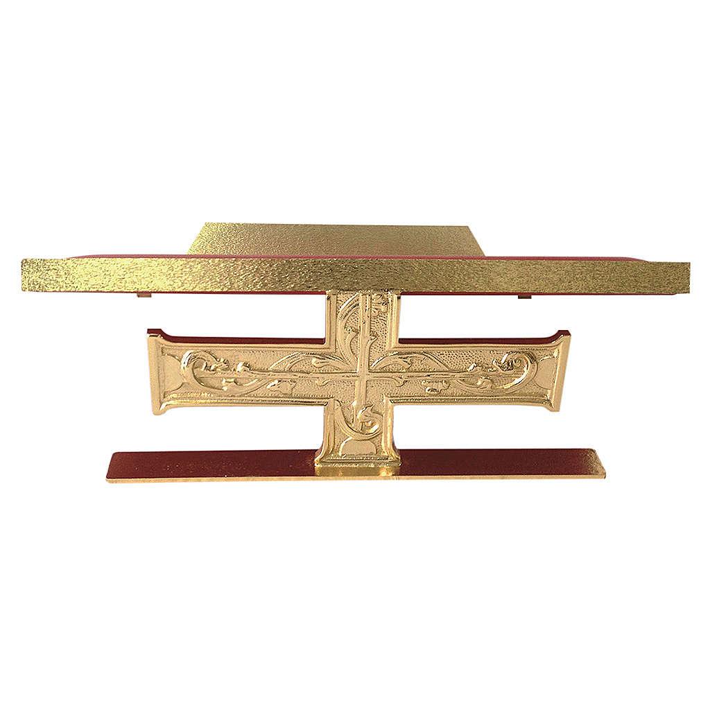 Atril de mesa latón fundido cruz decoraciones barrocas 4