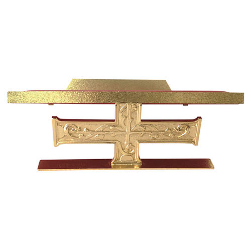 Atril de mesa latón fundido cruz decoraciones barrocas 1