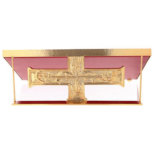 Leggio da mensa ottone fuso croce decorazioni barocche 2