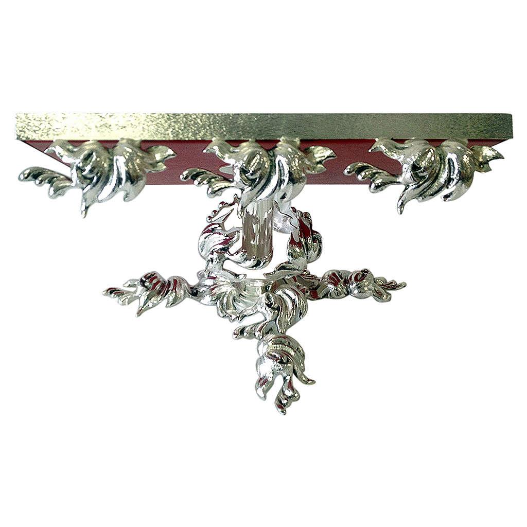 Pupitre d'autel en laiton moulé argenté pivotant 4