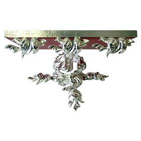 Pupitre d'autel en laiton moulé argenté pivotant s1