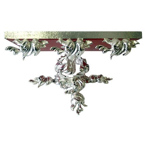 Pupitre d'autel en laiton moulé argenté pivotant 1