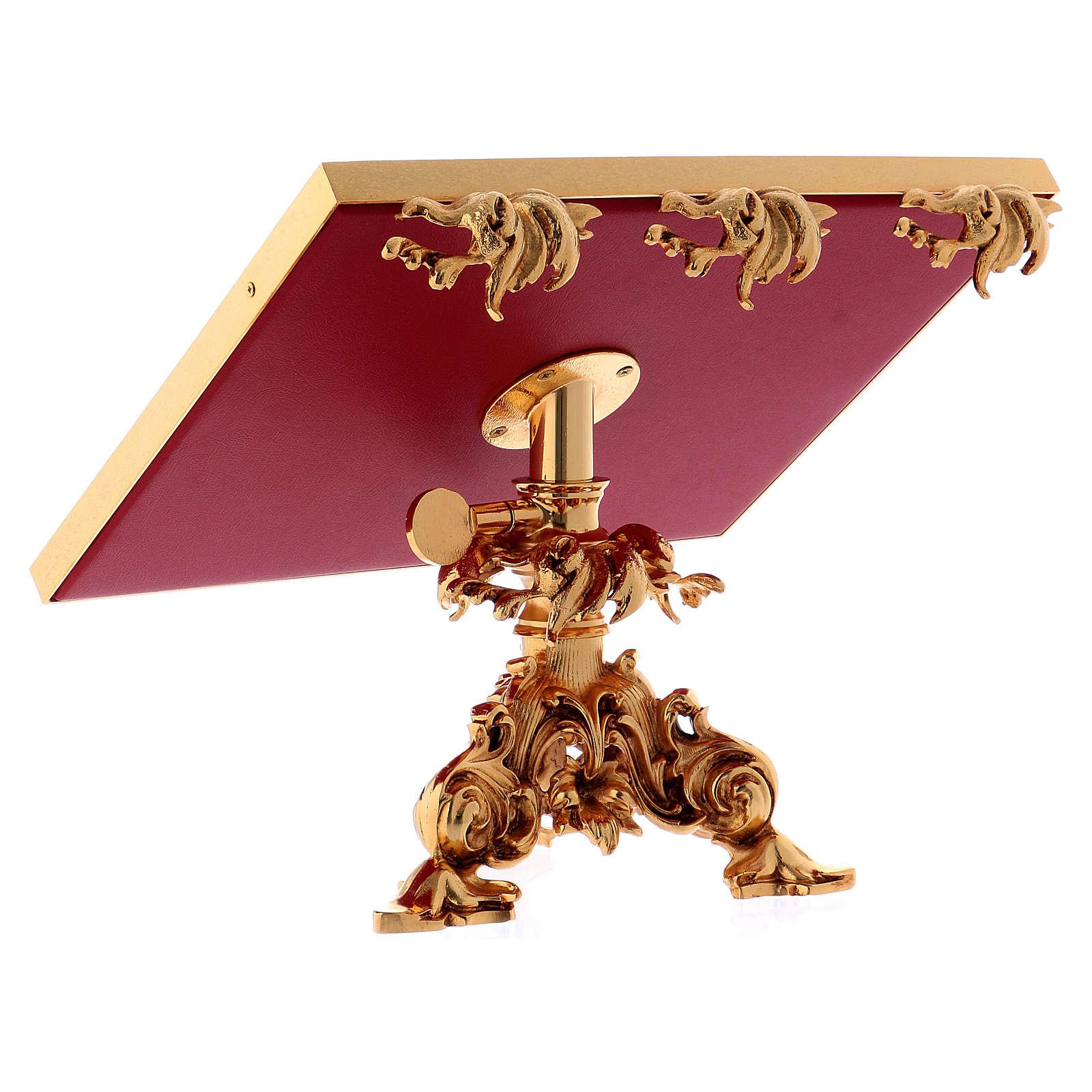 Atril de mesa giratorio latón fundido bañado en oro 24K 4