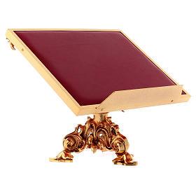 Atril de mesa giratorio latón fundido bañado en oro 24K s3