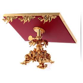 Atril de mesa giratorio latón fundido bañado en oro 24K s4
