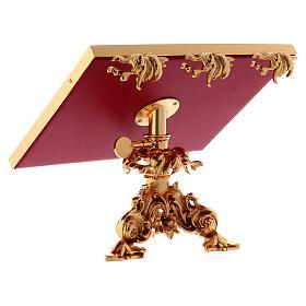 Atril de mesa giratorio latón fundido bañado en oro 24K s5
