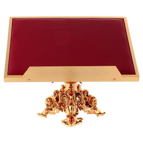 Atril de mesa giratorio latón fundido bañado en oro 24K 1