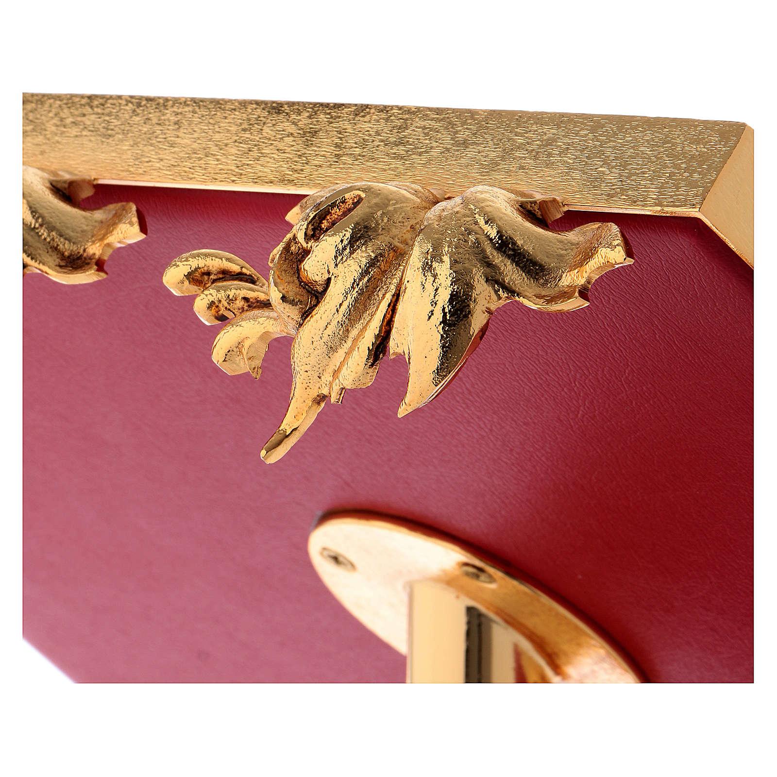 Leggio da mensa girevole ottone fuso bagno oro 24 K 4