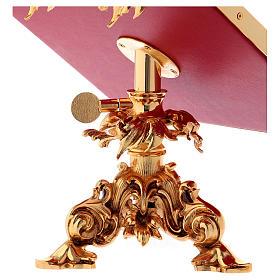 Leggio da mensa girevole ottone fuso bagno oro 24 K s7